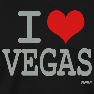 Black I love vegas by wam T-Shirts - Men's Premium T-Shirt