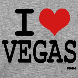 Ash  I love vegas by wam T-Shirts - Men's Premium T-Shirt