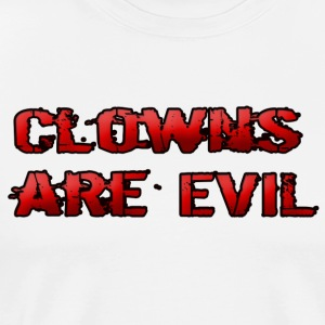 Clowns are Evil - Men's Premium T-Shirt