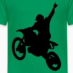 Kelly green Dirt Bike Kids Shirts