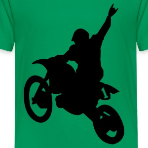 Kelly green Dirt Bike Kids Shirts - Kids' Premium T-Shirt