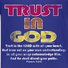 Christian Kids T-Shirt, Trust in God, Bible Verse
