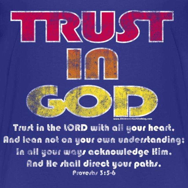 Christian Kids T-Shirt, Trust in God, Bible Verse