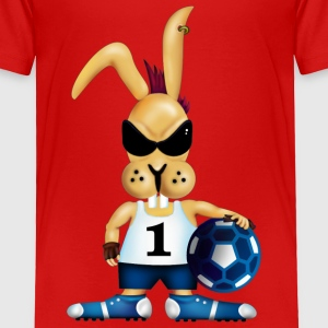 Red Soccer bunny (DDP) Toddler Shirts - Toddler Premium T-Shirt