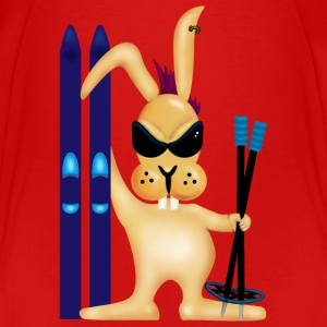 Red Skiing Bunny (DDP) Toddler Shirts - Toddler Premium T-Shirt