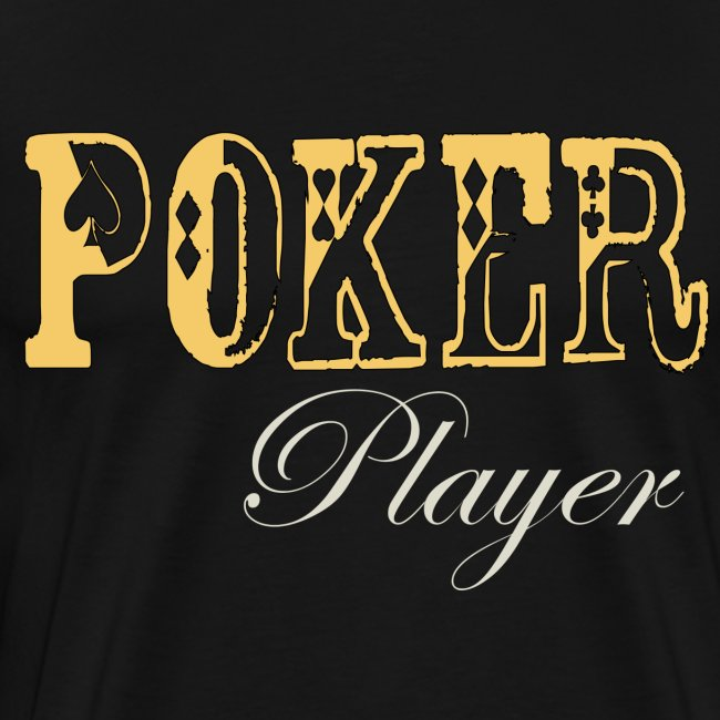Poker Player-  Mens 3XL T Black