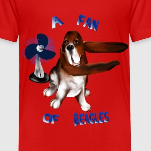 A Fan Of Beagles lettered - Toddler Premium T-Shirt