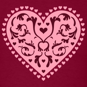 Burgundy Heart Design T-Shirts - Men's T-Shirt