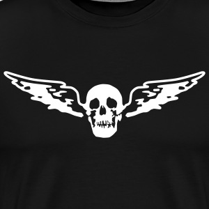 wing skull - Men's Premium T-Shirt