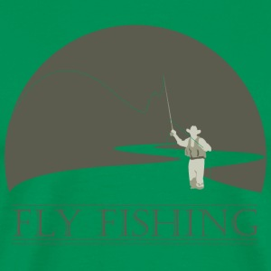 Sage fly fisherman 1 fly fishing design T-Shirts - Men's Premium T-Shirt