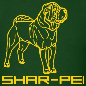 Forest green sharpei00042 T-Shirts - Men's T-Shirt