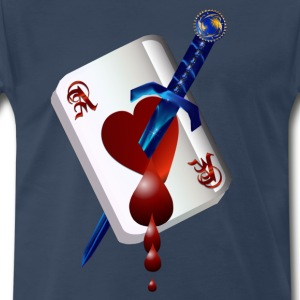 Ace Of Hearts and Dagger - Men's Premium T-Shirt