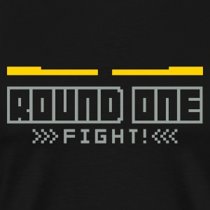 Black Round1: Fight! T-Shirts - Men's Premium T-Shirt