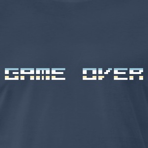 Navy Game Over (Pixelchrome) T-Shirts - Men's Premium T-Shirt