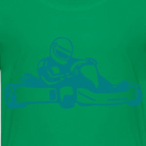 Kelly green Kart - Racing Kids Shirts - Kids' Premium T-Shirt