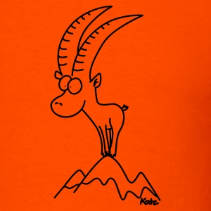 Capricorn,  heavyweight tee, orange - Men's T-Shirt