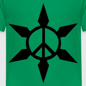 Kelly green Peace Ninja Star Kids Shirts - Kids' Premium T-Shirt