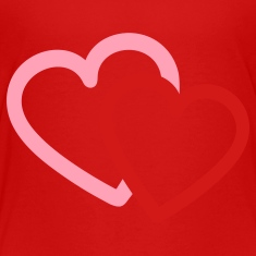 Red Love heart hearts valentine Toddler Shirts