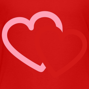 Red Love heart hearts valentine Toddler Shirts - Toddler Premium T-Shirt