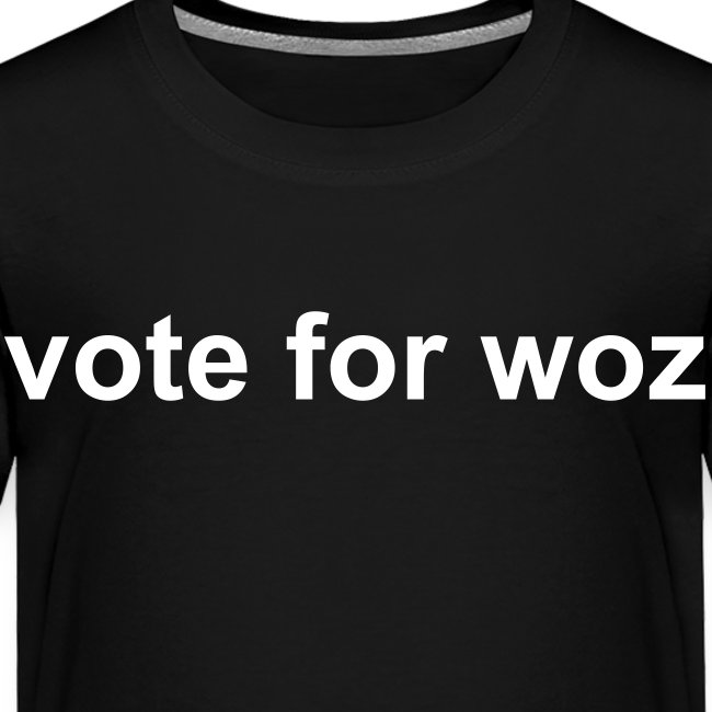Toddler 'vote for woz' T-Shirt
