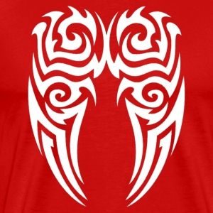 White angel tribal tattoo wings - Men's Premium T-Shirt