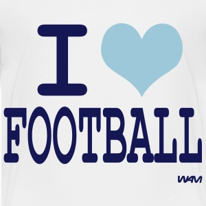 White i love football by wam Toddler Shirts - Toddler Premium T-Shirt