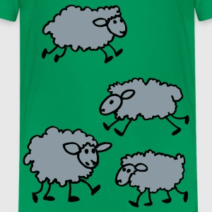 Kelly green Lambs Kids Shirts - Kids' Premium T-Shirt