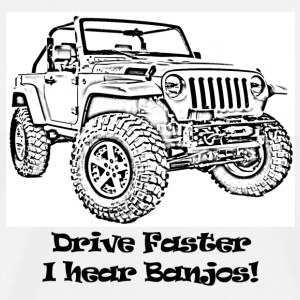 Drive Faster Jeep - SS White 3X - Men's Premium T-Shirt