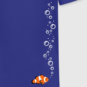 Royal blue Clownfish with bubbles Kids Shirts - Kids' Premium T-Shirt