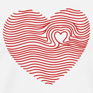 White Touched My Heart T-Shirts - Men's Premium T-Shirt