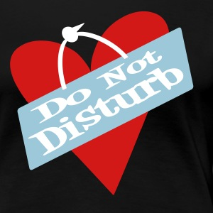 Black Heart Do Not Disturb Plus Size - Women's Premium T-Shirt