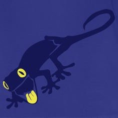 Royal blue lizard Kids Shirts