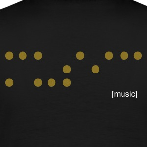 Black music blind braille T-Shirts - Men's Premium T-Shirt