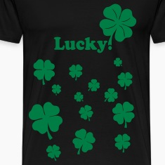 Black All over four leaf clover T-Shirts
