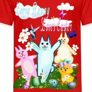 Every Bunny Loves Easter - Toddler Premium T-Shirt