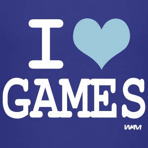 Royal blue i love games by wam Kids Shirts - Kids' Premium T-Shirt