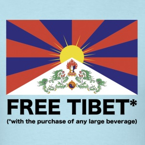 Free Tibet* with purchase of large Beverage - Men's T-Shirt