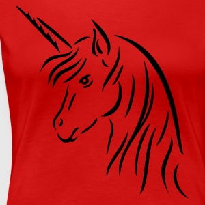 Red Unicorn Head Plus Size - Women's Premium T-Shirt
