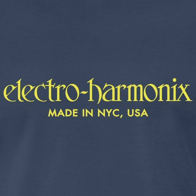 Electro-Harmonix: Yellow on Navy Blue