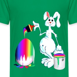 Easter Bunny Paints - Kids' Premium T-Shirt
