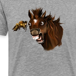 Horse and Bee Face Off - Men's Premium T-Shirt