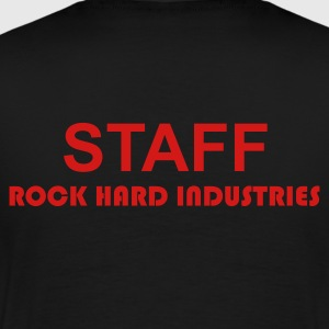 Staff Rock Hard Industries - Blk SS Men - Men's Premium T-Shirt