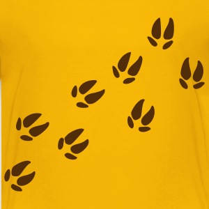 Yellow Footprints - Pig Kids Shirts - Kids' Premium T-Shirt