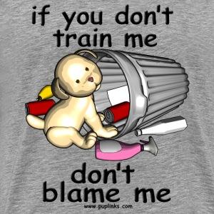 Train me pup - Men's Premium T-Shirt