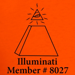 Orange Official Illuminati Member T-Shirts - Men's T-Shirt