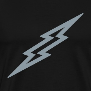 Lightning Bolt T Shirt - Silver - Men's Premium T-Shirt