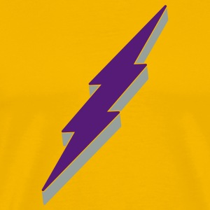 3-D Lightning Bolt T Shirt - Men's Premium T-Shirt
