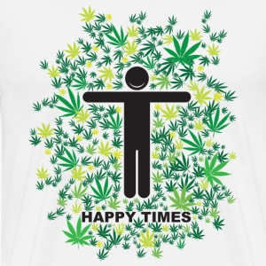 White Happy Times T-Shirts - Men's Premium T-Shirt