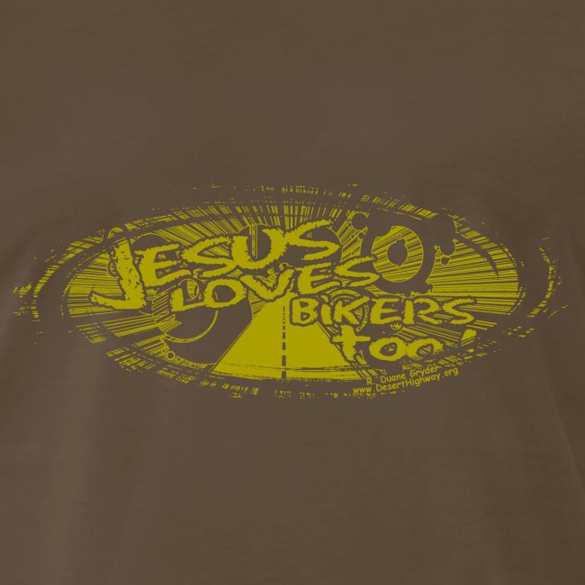 Gold logo Jesus Loves Bikers Too
