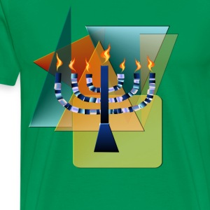 Menorah with shapes - Men's Premium T-Shirt